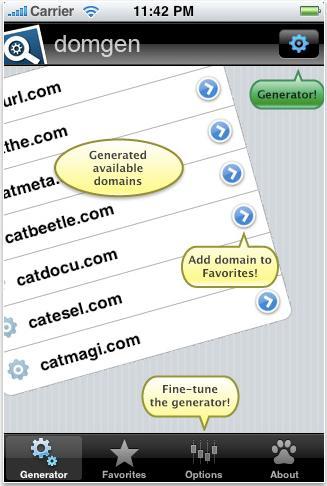 domgen Domain Name iPhone App