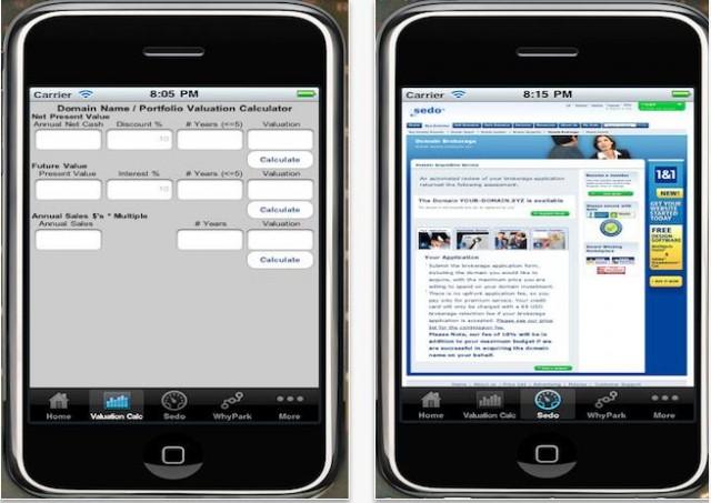 iNameApp Domain Name iPhone App